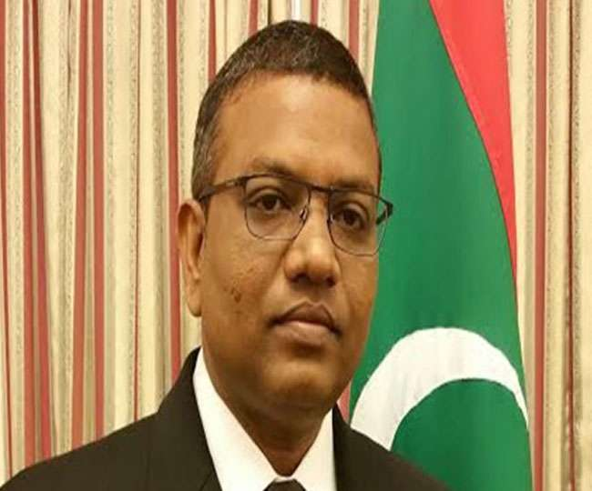 19 03 2018 maldive envoy कश्मीर पर विवादित टिप्पणी के बाद मालदीव की सफाई, बोले- ये भारत-पाक के बीच का मुद्दा
