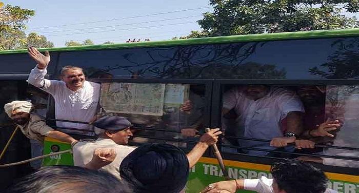 20 03 2018 sadrech iv विधानसभा का घेराव करने जा रहे अकाली-भाजपा के नेता गिरफ्तार