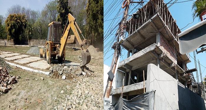 अवैध प्लॉटिंग पर एमडीडीए की कार्यवाही जारी, ध्वस्त किया अवैध निर्माण