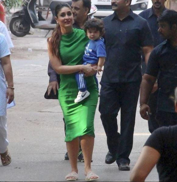 taimur मॉम करीना के साथ स्टूडियो पहुंचे तैमूर अली खान, देखें फोटोज