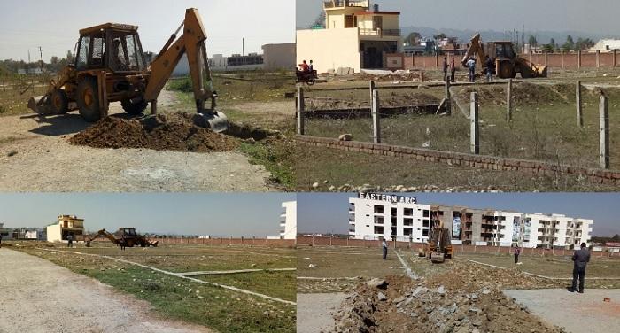 GMC रोड देहरादून द्वारा 30से 40 बिघा जमीन पर किया गया प्लॉटिंग का कार्य हुआ ध्वस्त