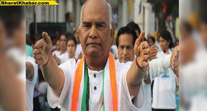 राष्ट्रीय राजधानी में अंतरराष्ट्रीय योग दिवस समारोह में शामिल हुए राष्ट्रपति रामनाथ कोविंद