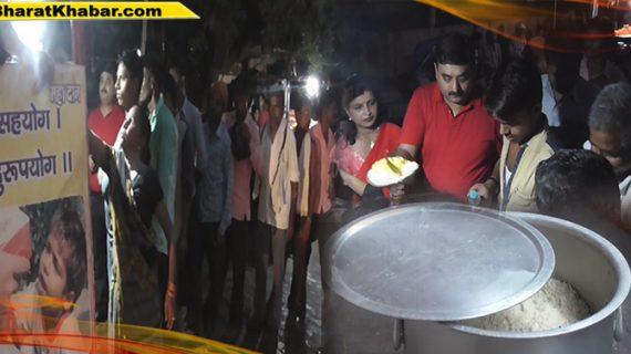 पांच रुपए में मिल रहा मरीजों के तीमारदारों को भर पेट भोजन