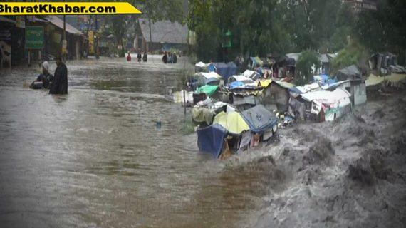 हिमाचल प्रदेश में भारी बारिश के चतले 8 जिलों में सामान्य जीवन प्रभावित