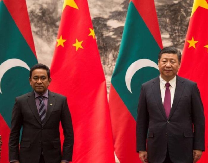 maldives president abdulla signing jinping meeting president afc8a228 dbf7 11e7 9b6d 9e5c5485959d डिफेंस एक्सपो में दिखी भारत के साथ मालदीव और चीन के तल्ख रिश्तों की झलक