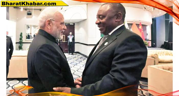 ब्रिक्स सम्मेलन में शामिल होने के लिए दक्षिण अफ्रीका पहुंचें पीएम मोदी