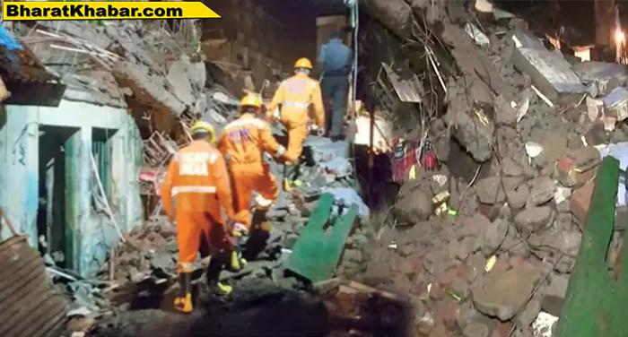 मुंबई के भिवंडी में 3 मंजिला बिल्डिंग गिरने से 1 महिला की हुई मौत,कई घायल