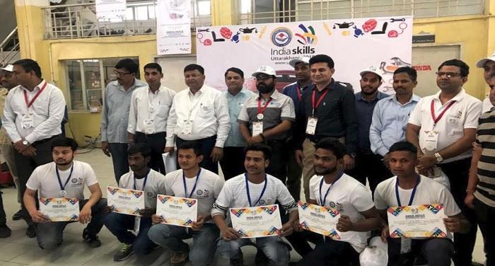 राज्य स्तरीय इण्डिया स्किल उत्तराखण्ड 2018 प्रतियोगिता 11 स्पर्धाओं में आयोजित