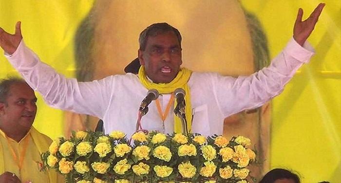 30 01 2018 omprakash rajbhar अपनी ही सरकार पर बरसे राजभर, योगी राज में जातिवाद अपनी चरम सीमा पर