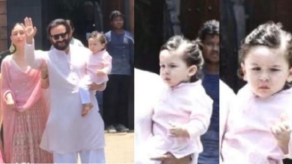 सोनम की शादी में भी छाए नवाब तैमूर अली खान, कुछ इस अंदाज में कैमरे के सामने पोज देते आए नजर