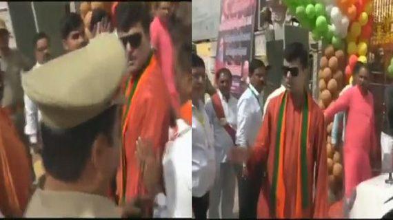 विडियो में देखें BJP विधायक की गुंडागर्दी, सीएम से नहीं मिलने से रोकने पर एसपी को कहे अपशब्द
