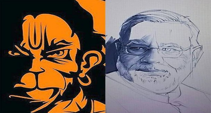 'एंग्री हनुमान' की पेंटिंग बनाने वाले करण ने बनाई पीएम मोदी की तस्वीर, हुई वायरल