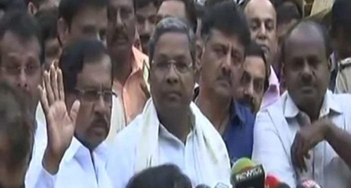 कर्नाटक चुनाव 2018: कांग्रेस-जेडीएस गठबंधन ने पेश किया सरकार बनाने का दावा
