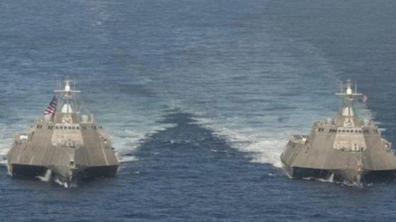 अमेरिका के दो युद्धक जहाजों को दक्षिण चीन सागर में देखे कर चीन हो सकता है नाराज