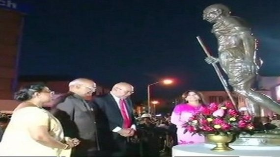 राष्ट्रपति रामनाथ कोविंद पहुंचे सूरीनाम, महात्मा गांधी को दी श्रद्धांजली