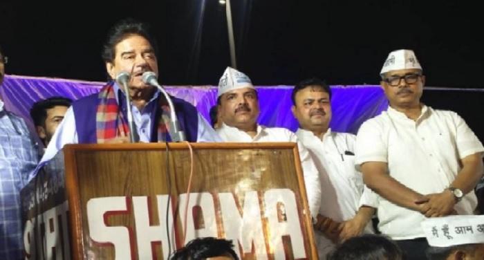 shatrughan आम आदमी पार्टी के मंच से शत्रुघ्न सिन्हा का बयान, पीएम मोदी 'तथाकथित चायवाले'
