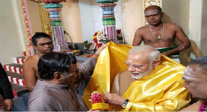 singa pur modi प्रधानमंत्री मोदी के सिंगापुर दौरे का आज अंतिम दिन, मंदिर-मस्जिद देखने बाद भारत वापसी