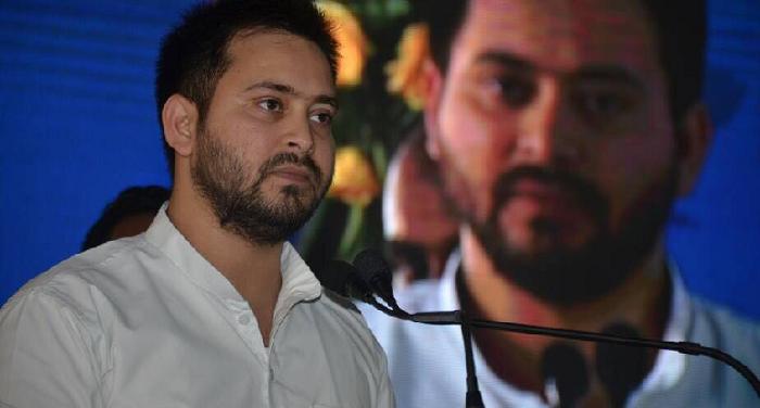 tejashwi yadav बीजेपी एमलसी ने दिया राज्यपाल पर विवादित बयान, तेजस्वी ने शेयर किया वीडियो