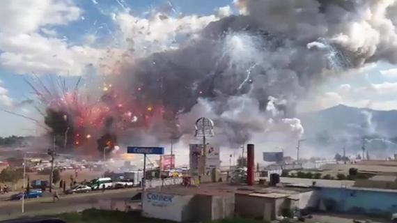 मेक्सिको के पटाखा गोदाम में लगी भीषण आग, 17 लोगों की हुई मौत