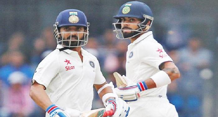 Untitled 2 तीसरा टेस्ट: विराट–रहाणे ने संभाली पारी, भारतीय टीम का स्कोर 200 के करीब