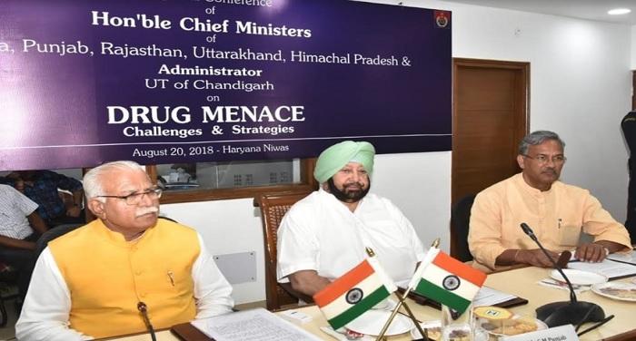 सीएम रावत ने चंडीगढ़ में ''नशे के खिलाफ संयुक्त रणनीति'' पर आयोजित सम्मेलन में भाग लिया