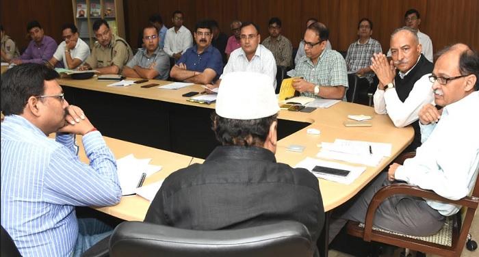 मुख्य सचिव उत्पल कुमार सिंह ने मनोनीत राज्यपाल के शपथ ग्रहण समारोह के तैयारियों की समीक्षा की