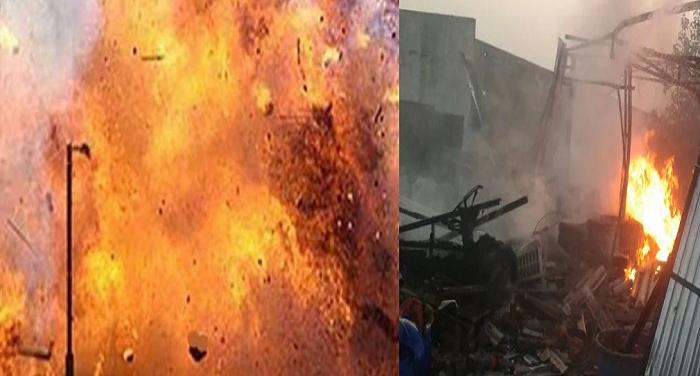 उत्तर प्रदेश के बदायूं  में पटाखा फैक्ट्री में हुआ विस्फोट,7 लोगों की मौत 3 घायल