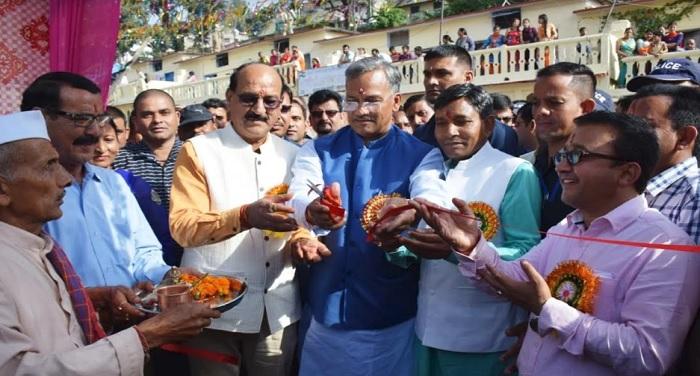 सीएम रावत ने रामलीला मैदान नरेन्द्रनगर में विकास मेला-2018 का उद्घाटन किया