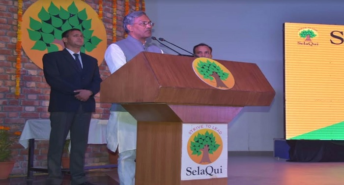 मुख्यमंत्री त्रिवेन्द्र सिंह रावत सेलाकुई इंटरनेशनल स्कूल के 18वें स्थापना दिवस समारोह मे सम्मिलित हुए