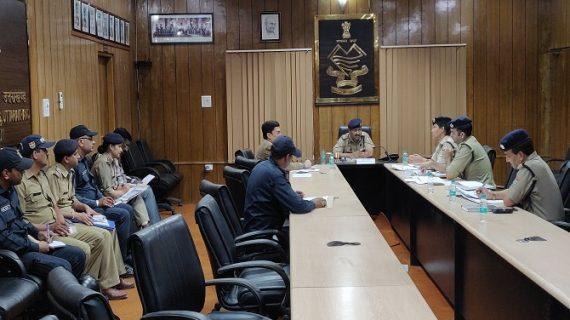 यातायात को सुदृढ़ करने को लेकर पुलिस मुख्यालय में हुई बैठक