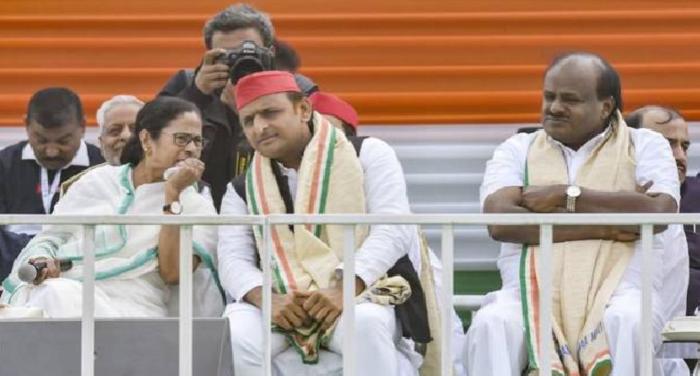 यादव BJP को सत्ता से बाहर करने के लिए विपक्ष के  22 दलों ने बनाया यूनाइटेड फ्रंट