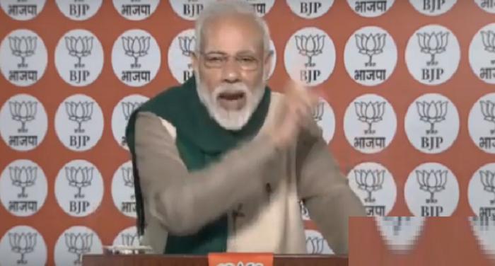 पीएम मोदी PM ने NaMo app के जरिए कार्यकर्ताओं को सरकार की योजनाओं के बारे में बताया