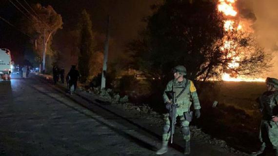 मेक्सिको तेल पाइपलाइन में आग लगने से धमाका 73 की मौत