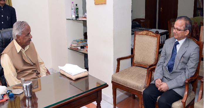 राज्यपाल कल्याण सिंह से मिले नवनियुक्त महाधिवक्ता एम.एस. सिंघवी