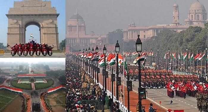 LIVE: राजपथ पर पैदल चल रहे पीएम मोदी