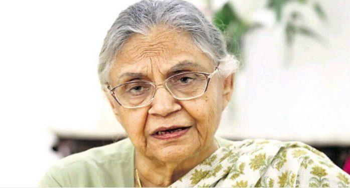 शीला दीक्षित को दिल्ली कांग्रेस का अध्यक्ष बनाए जाने को लेकर हो रहा कार्यक्रम विवादों में घिरा