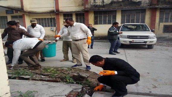 गढ़वाल आयुक्त डॉ. बीवीआरसी पुरूषोत्तम ने कोटद्वार तहसील परिसर का किया निरीक्षण