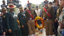 शहीद मेजर श्री चित्रेश बिष्ट के आवास पर मुख्यमंत्री श्री त्रिवेन्द्र सिंह रावत