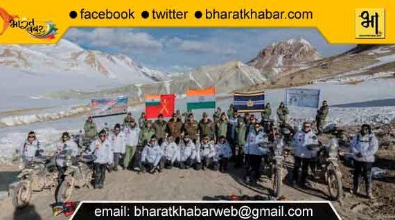 हिमालयन हाइट्स मोटरसाइकिल अभियान काराकोरम दर्रा पहुंचा