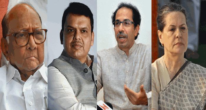 eee Congress-NCP को दांव में उलझा कर, BJP ने महाराष्ट्र में चल दिए 29 दिन में 29 दांव पेंच