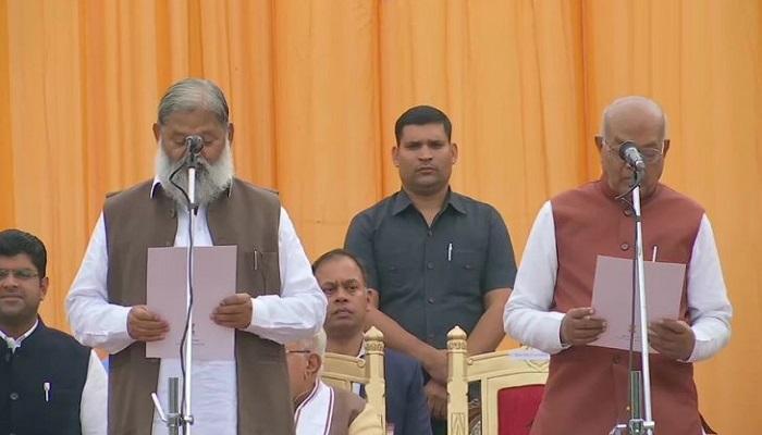 khattar sarkar जानिए खट्टर सरकार में किस मंत्री को मिला कौन सा पद, 10 मंत्रियों ने ली शपथ