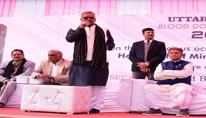 CM RAWAT सीएम रावत ने पवेलियन ग्राउण्ड, में स्वरात्मिका फाउंडेशन द्वारा आयोजित रक्तदान शिविर का शुभारम्भ किया