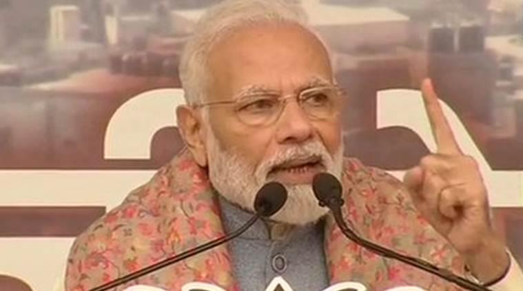 Modi rally 1 BJP के चुनाव अभियान की नरेंद्र मोदी ने की शुरुआत, AAP पर हमला