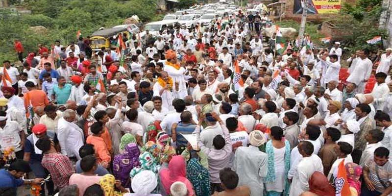 congress शहर के मुख्य क्षेत्र में बड़े ट्रैफिक जाम का कारण बनी कांग्रेस रैली