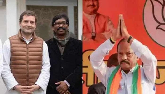jharkhand झारखंड में ताजा रुझानों के मुताबिक कांग्रेस-जेएमएम गठबंधन बहुमत से एक सीट पीछे, जाने क्या है बीजेपी का हाल