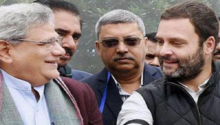 राहुल गांधी सीपीएम महासचिव सीतराम येचुरी ने की सीएए की इमर्जेंसी से तुलना, सड़क पर उतरने की बात कही