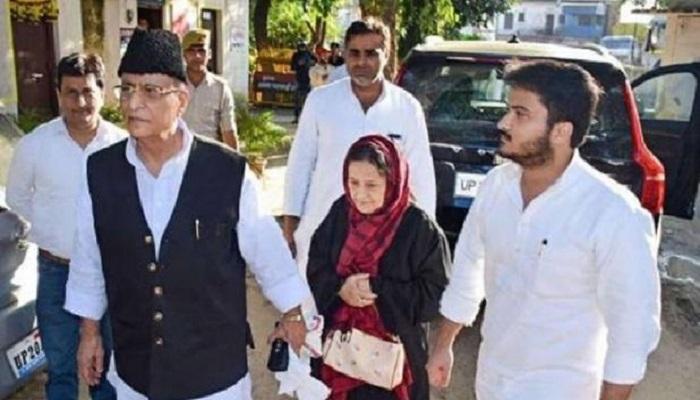 आजम खान पत्नी बेटे संग धोखाधड़ी के मामले में रामपुर से सपा के सांसद आजम खान जेल भेजे गए