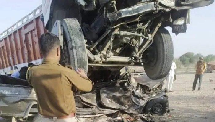 राजस्थान के जोधपुर जिले में दर्दनाक सड़क हादसे में एक ही परिवार के 11 लोगों की मौत