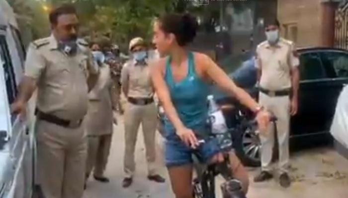विदेशी महिला एक तो लॉकडाउन का किया उलंघन, उलटा पुलिस से करने लगी बहस, जाने कौन है ये विदेशी महिला