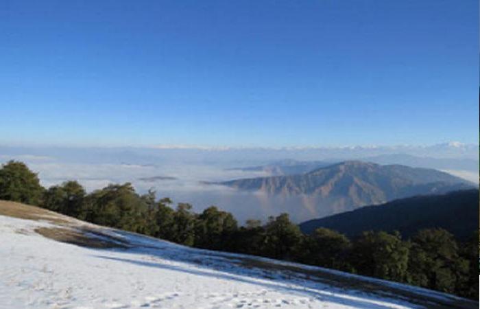 हिमालय. 2 मुजफ्फरनगर शहर की ऊंची इमारतों से होने लगे हिमालय की बर्फ से ढ़की शिवालिक पर्वत श्रृंखला के दर्शन